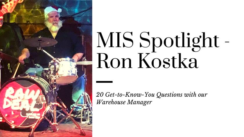 Ron Kostka playing drums